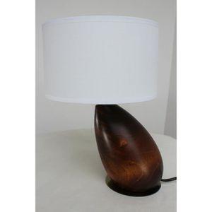 LAMPE A POSER §§ Lampe de Table Moderne Bois Exotique Massif en