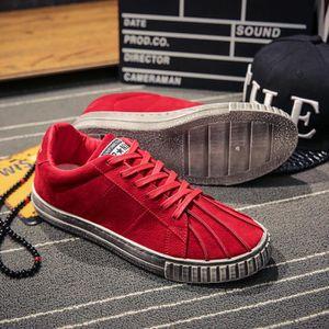 49d9d820ea5e2e Baskets Homme Chaussures de Sport Baskets mode Chaussure plate Chaussures  de toile Sneakers boys rouge 40 Rouge Rouge - Achat / Vente basket -  Soldes* dès ...