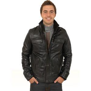Blouson homme cuir - Achat   Vente Blouson homme cuir pas cher ... 8e4188117d0