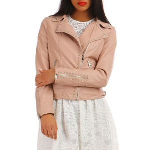VESTE Perfecto rose à clous-S