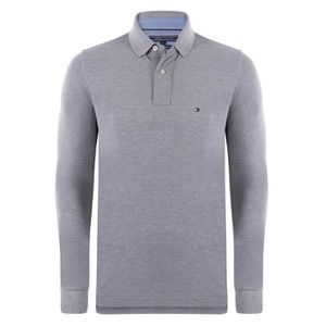 POLO Tommy Hilfiger Homme Polo Manches Longues Gris