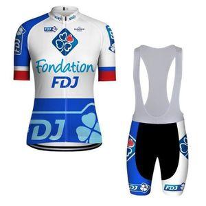 MAILLOT DE CYCLISME FDJ Maillot de Cyclisme Femme Manches Courtes Slim