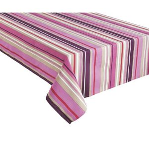 NAPPE DE TABLE HOME STORIES Nappe en coton Passion 150x250 cm ros