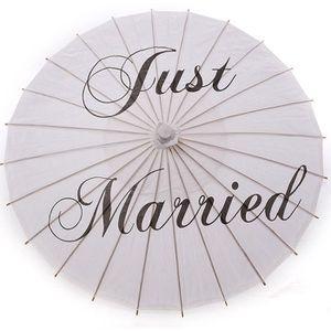 Décors de table Parasol En Papier Décoration Mariage juste marie