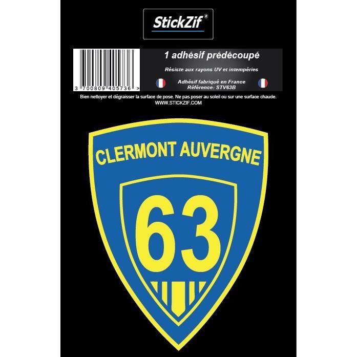 STICKZIF 1 Adhésif Blason Clermont Auvergne STV63B