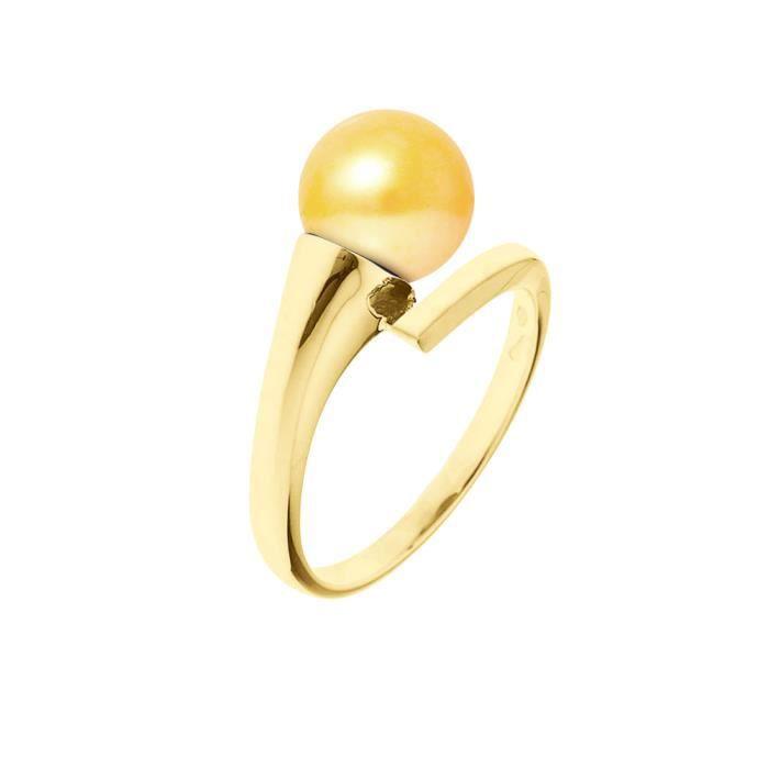 PERLINEA Bague Perle de Culture et Or Blanc 375° Femme