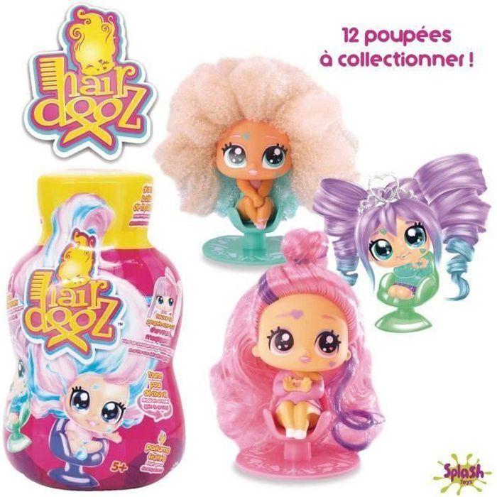 HAIRDOOZ Poupée dans bouteille de shampoing Hairdooz glitter wave 2 asst - Plus jolie figurine sur un siège de coiffeur