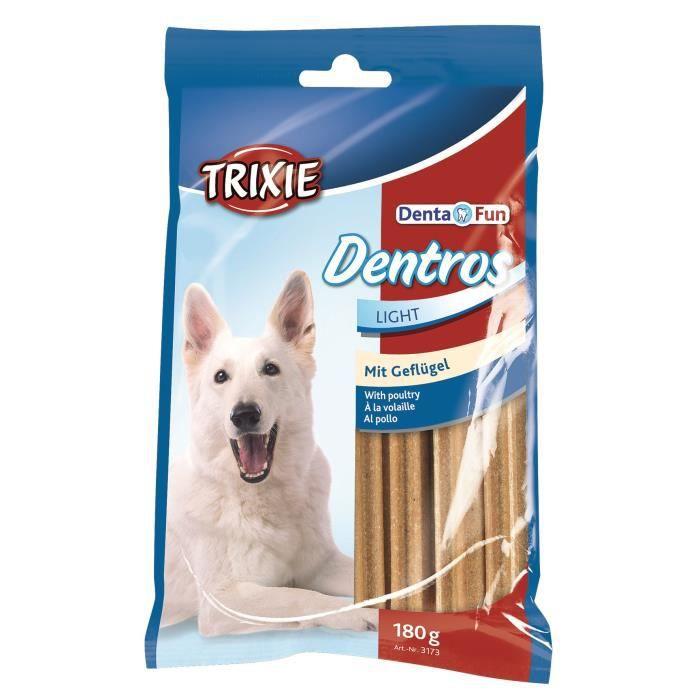 TRIXIE Dentros Denta Fun à la volaille - Pour chien - 7 pièces - 180g