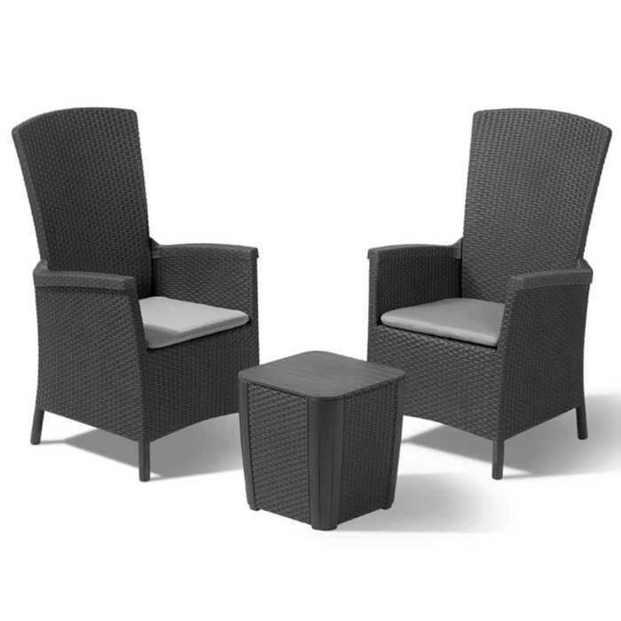 ALLIBERT Salon de jardin VERMONT 2 places - fauteuils ...