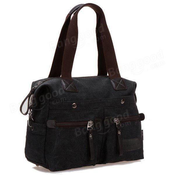 SBBKO158Ekphero femmes hommes toile de poche multi sacs à main occasionnels oreiller épaule sac bandoulière sacs Noir