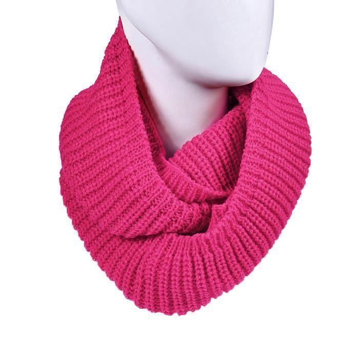 Femmes hiver chaud Infinity 2 cercle câble tricot col bénitier longue écharpe  châle chaud LXX50924204HOT e0a3f2462aa