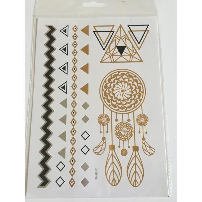 planche de 8 tatouages ph m res m tallique waterproof. Black Bedroom Furniture Sets. Home Design Ideas
