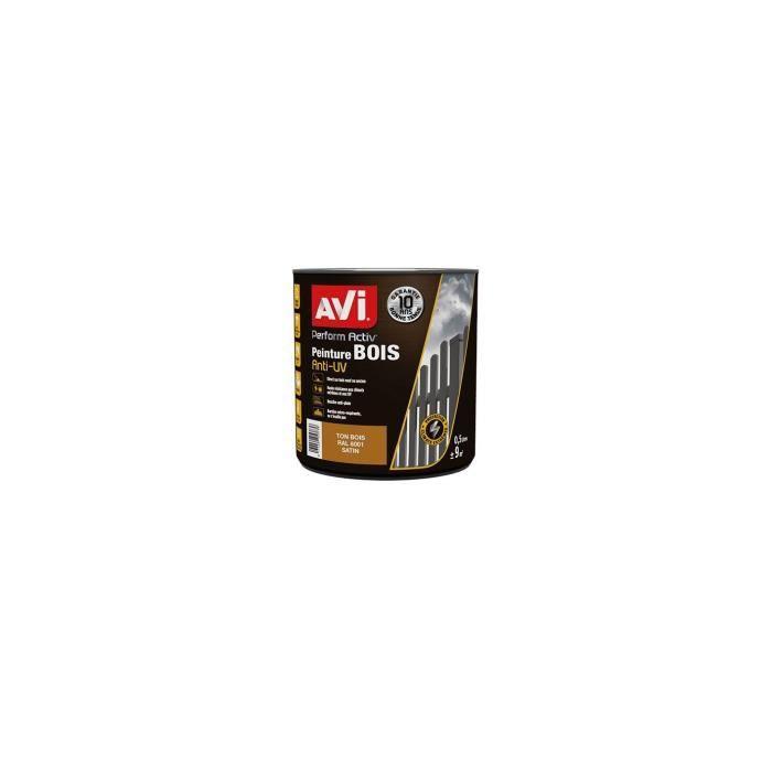 PEINTURE - VERNIS AVI Peinture pour bois - Ton bois satin - 0,5 L