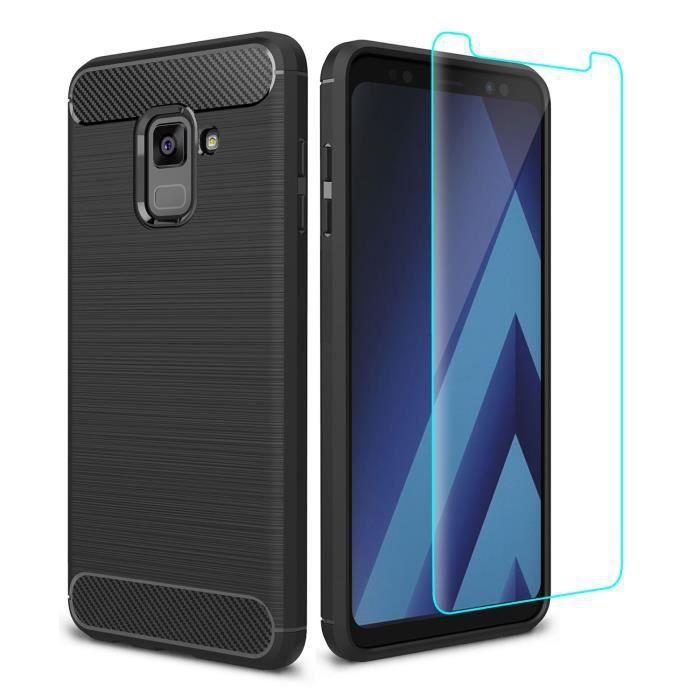 Pour Samsung Galaxy A8 2018,TPU Housse Protection Souple+Film de ... c7f3e611e5ae