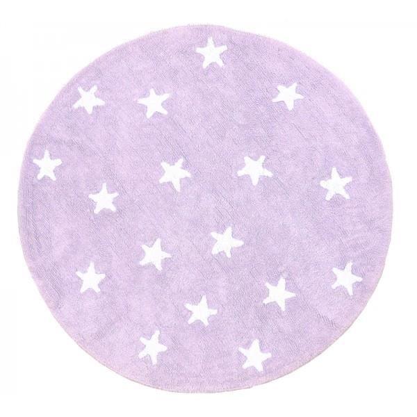 Tapis de sol 140cm rond mauve étoile blanche - Achat / Vente tapis ...