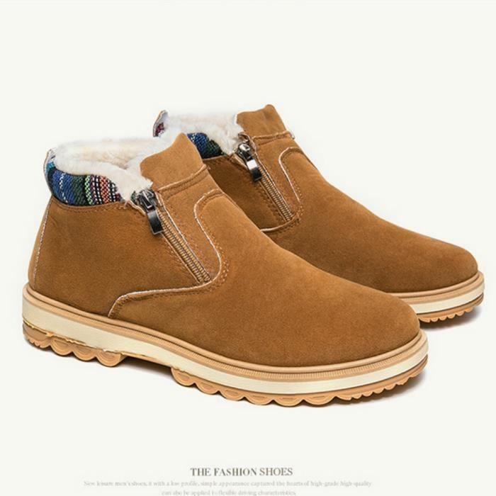 Bottes de neige pour les hommes d'hiver chaud Shoes Souliers simple et confortable Chaussures Cachemire keep Hommes Au chaud Bottes WEKeYYiSbk