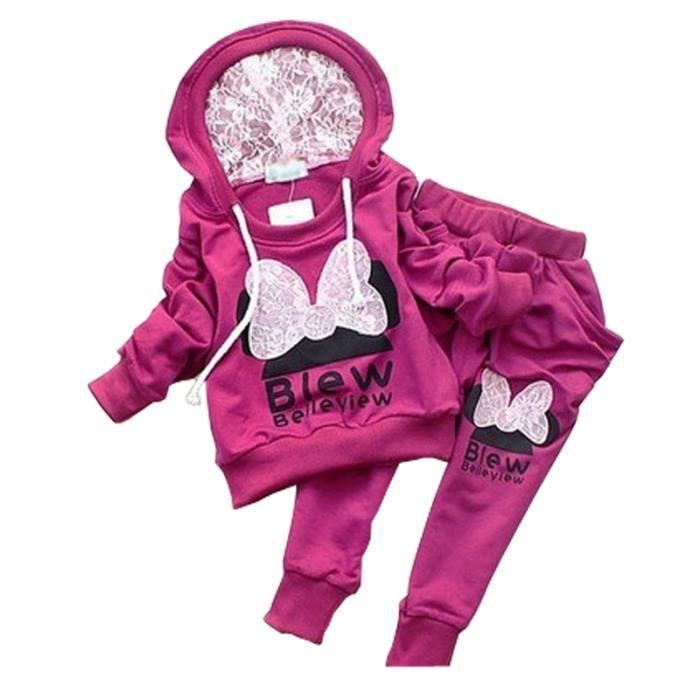 3f8d1c2d21ec6 1-4 Ans Fille Bébé Enfant Tenue Sport 2PCS Ensemble de Vêtement ...