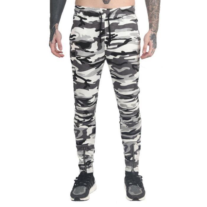 de2991c45ed88 Pantalon en coton pour homme pantalon de jogging coupe carrot ...