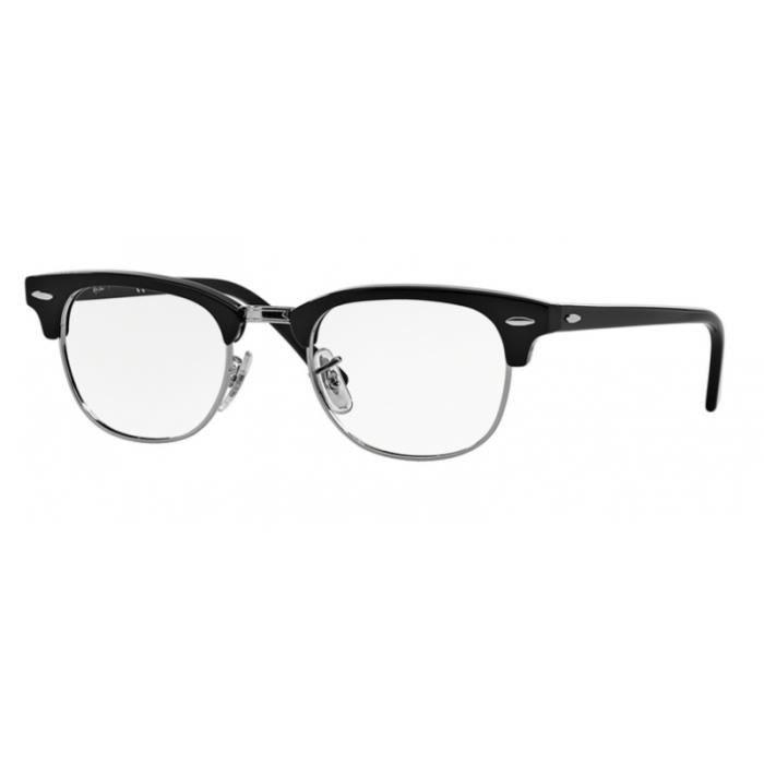 Lunettes de vue Ray-Ban Clubmaster RX5154 2000 Black 51-21 Noir ... ab1efb7ce1fb
