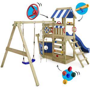 aire de jeux exterieur enfant bois achat vente jeux et jouets pas chers. Black Bedroom Furniture Sets. Home Design Ideas