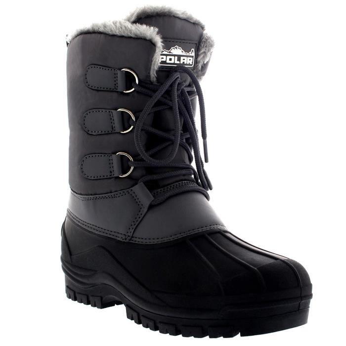 Hommes Muck lacées court Nylon hiver neige pluie bottes lacées Duck Casual P7WSM Taille-44 1-2 uVdM7Jrbt
