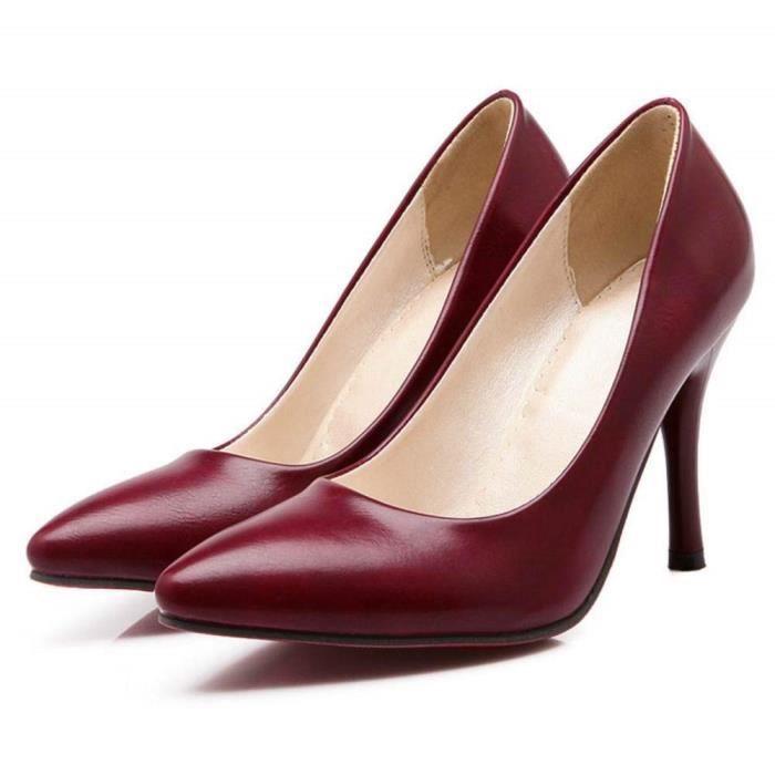 Classiques Rouge Escarpins Taoffen Aiguille Talon Pxq5w0IY