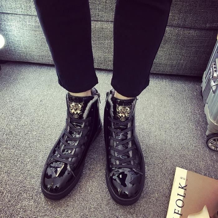Taille bottes d'hiver Les seniors Bottes d'hiver neige 39 44 de Mode hommes British Style Chaussures q4w7ZBw