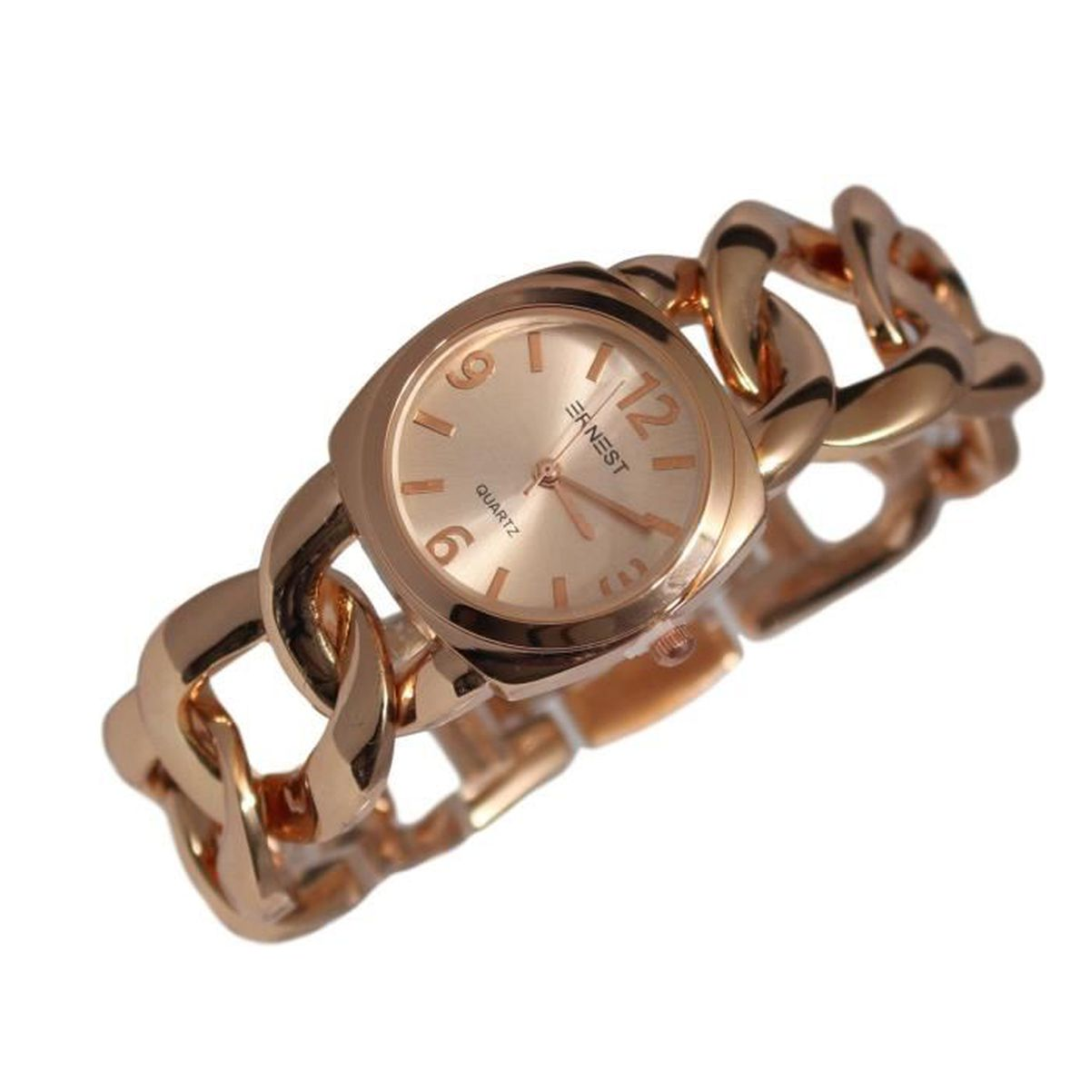 7adc075455e MONTRE FEMME MAILLE TRESSEE ITALIENNE GOLD PINK OR ROSE - Achat ...