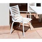 Fauteuil jardin empilable Floris Blanc - Achat / Vente fauteuil ...