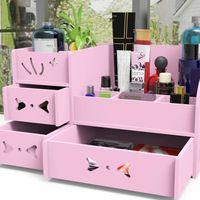 organiseur rangement maquillage tiroir en bois pour cosm tiques pour salle de bain bureau. Black Bedroom Furniture Sets. Home Design Ideas