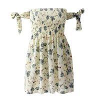ROBE femme robe d'été sans manches Off The Shoulder imp