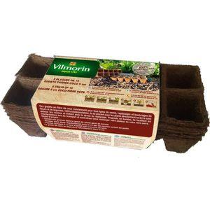 VILMORIN Godets coco carrés 5 plaques de 10 - 5 cm