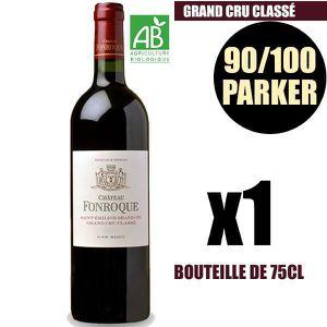 VIN ROUGE X1 Château Fonroque 2015 75 cl AOC Saint-Émilion G