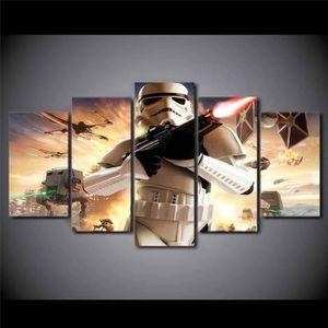 TABLEAU - TOILE Non encadrés(Pas de cadre)  5 Pièces Star Wars Gue