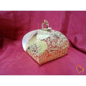 BOÎTE À DRAGÉES Boite à gâteau mariage ou baptême doré/doré grande