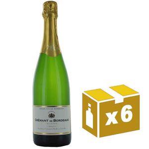 PÉTILLANT & MOUSSEUX AOC Crémant de Bordeaux BLANC BRUT – Carton de 6 b