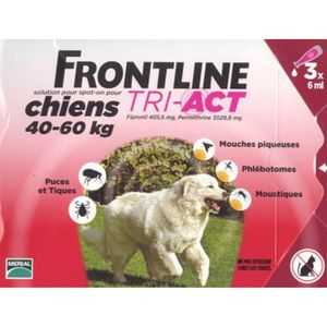 ANTIPARASITAIRE FRONTLINE TRI-ACT POUR CHIENS 40-60 KG 3 PIPETTES