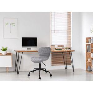 CHAISE DE BUREAU Chaise de bureau LINA en tissu gris.