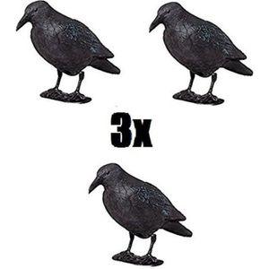STATUE - STATUETTE   Lot de trois Brema Figurine De Jardin | 3x Corbeau