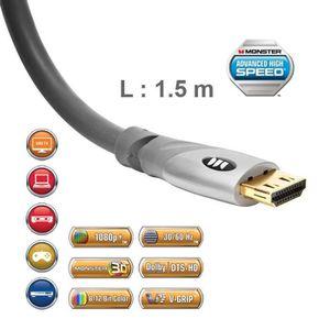 CÂBLE TV - VIDÉO - SON Câble HDMI 2.0 UHD Monster Gold 1,5 m