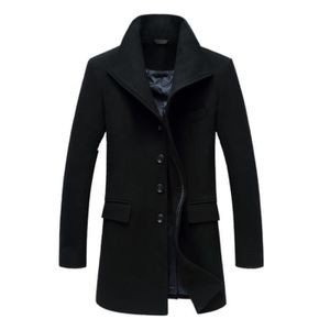 blouson homme duffle coat duffle coat noir long manteau blouson veste homme. Black Bedroom Furniture Sets. Home Design Ideas