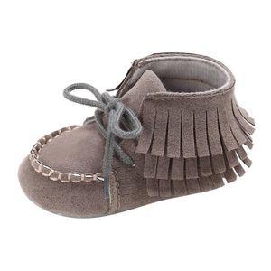 BOTTE Toddler nouveau-né bébé fille chaussures en cuir doux semelle enfant en bas âge anti-dérapant mignon Sh@KhakiHM akuWCFuI
