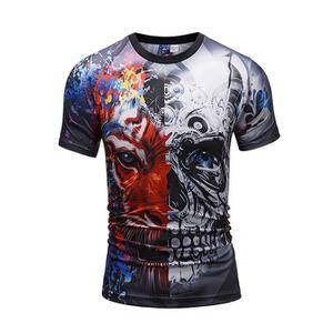 bdcdf403f99bd T-SHIRT Homme garçon lâche griffonner T-shirt col rond che ...