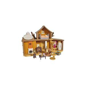 UNIVERS MINIATURE Maison hutte de Michka avec sons + figurines + acc