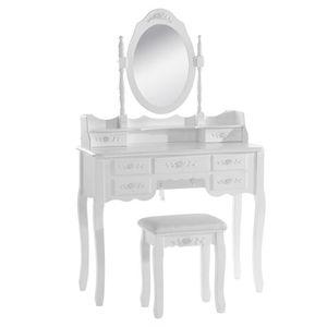 COIFFEUSE WOLTU Coiffeuse table de maquillage avec miroir et