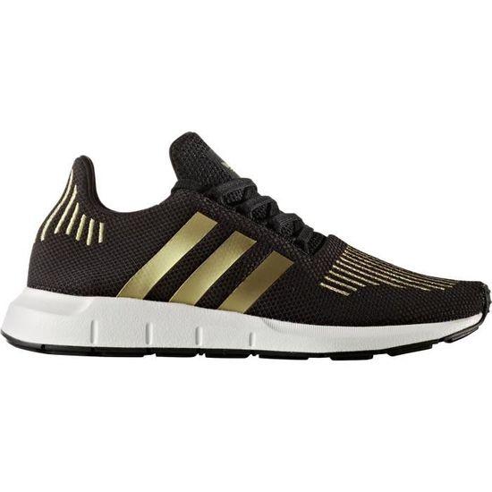 official photos de993 411f5 Adidas Swift Run W, Chaussures de Running Femme, Multicolore (Core BlackGold  Met.Ftwr White), 41 13 EU - Prix pas cher - Cdiscount