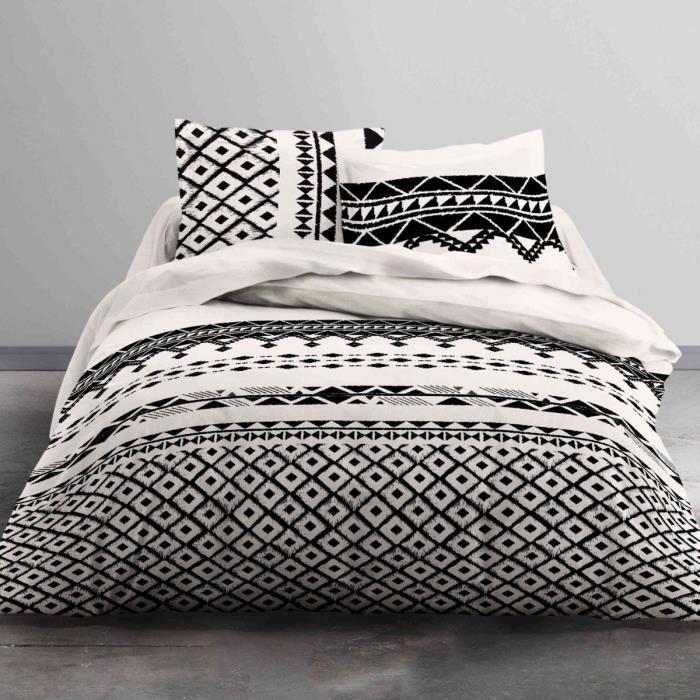 TODAY Parure de couette Mawira Keops - 1 housse de couette zippée et 2 taies d'oreiller - 100% coton - 240 x 260 cm