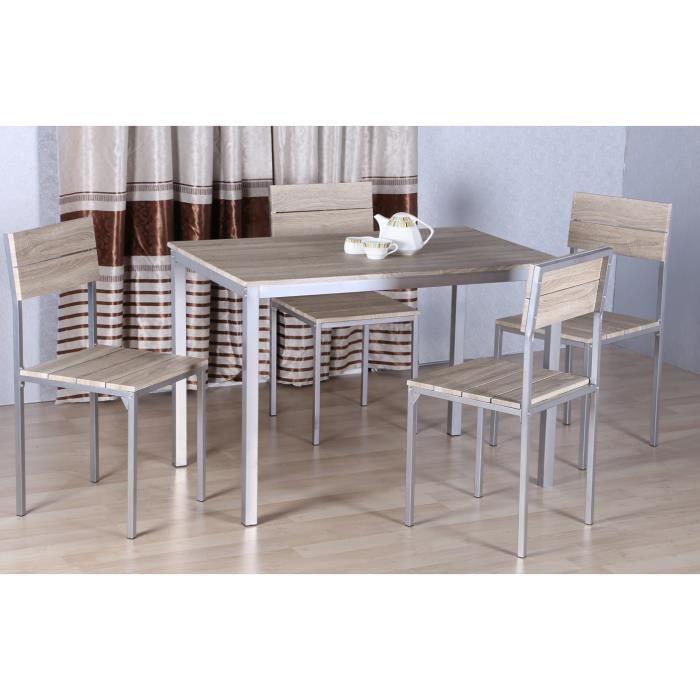 Table  Chaises Manresa Chene Clair