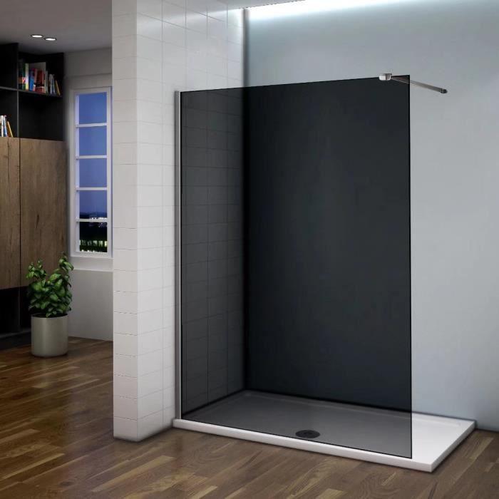 140x200cm paroi de douche grise pare douche fonc e paroi. Black Bedroom Furniture Sets. Home Design Ideas