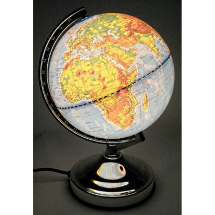 lampe globe terrestre touch s allume au toucher de achat vente lampe globe terrestre touch. Black Bedroom Furniture Sets. Home Design Ideas